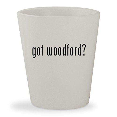 Mike & Chris Bib (got woodford? - White Ceramic 1.5oz Shot Glass)