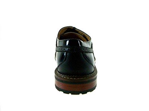 Mens Black 139005A Patent Dress Toe Cap Shoes New Oxford UZ8dqZ