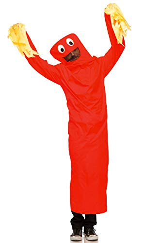 Seeing Red Adult Wild Waving Tube Guy Costume (Red)