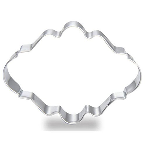 WJSYSHOP Oval Plaque Cookie Cutter