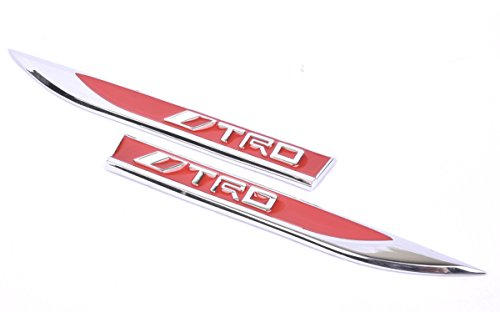 Aimoll 2pcs Chrome TRD Emblems,Blade Sticker 3D Logo Replacement for Toyota Yaris Camry Corolla -