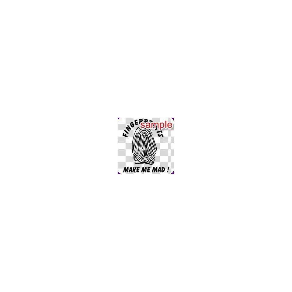 RANDOM FINGER PRINTS 11.5 WHITE VINYL DECAL STICKER