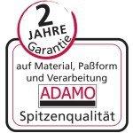 Dunkelblaue Feinripp-Sportjacke ohne Arm von ADAMO in Übergrößen bis 20