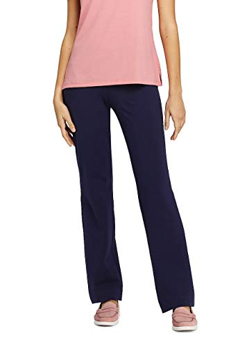 Lands' End Women's Starfish Mid Rise Straight Leg Elastic Waist Pull On Pants from Lands' End