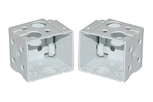 CUTELEC Box Mounting Bracket 1set for 1″ Mini Blinds White Color Window Blinds Headrail with 1″x1″ Size