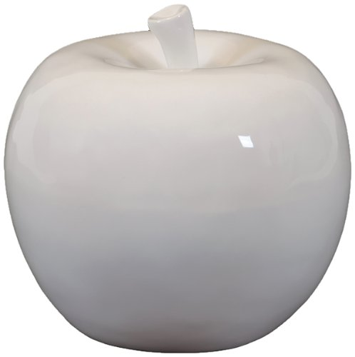 Urban Trends 70513 Decorative Ceramic Apple, Small, White
