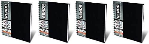 Crescent Creative Products 8-inch RENDR Wire-Bound Sketchbook, 8 x 8 F ur Pa k