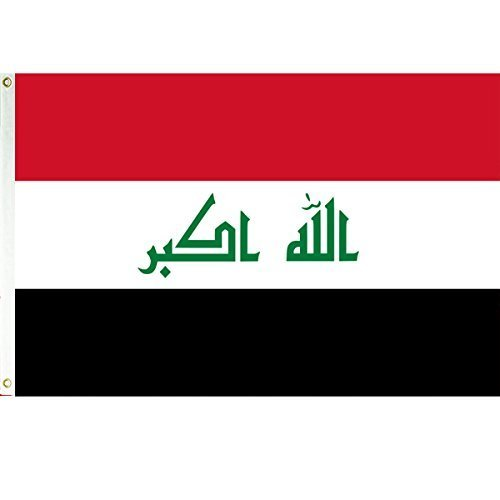 Iraq 3x5 Polyester Flag by Vista Flags