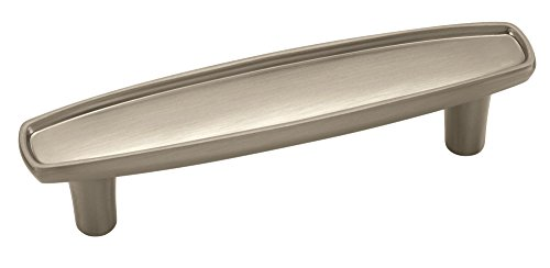 Amerock BP27005-G10 Porter Handle 3-Inch Center, Satin Nickel - Amerock Porter Collection