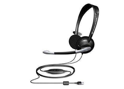 B Binaural Headset with Microphone (Sennheiser Stereo Mic)