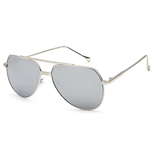 Transer Twin-Beams Geometry Design Women Metal Frame Mirror Sunglasses Cat Eye Glasses - C&g Sunglasses
