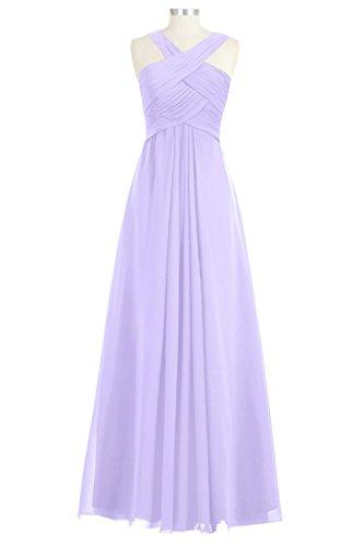 Tivansi Women's Long Chiffon Bridesmaid Dresses lilac Size 18
