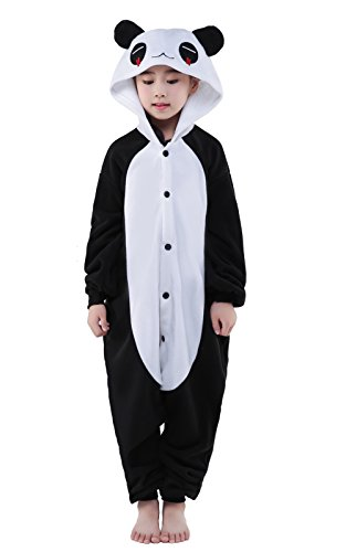 CANASOUR Unisex Halloween Kids Unisex Onesies Party Children Cosplay Pyjamas (105#(Size 6), Squinting Panda) -