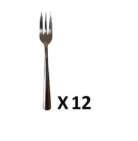 12 Unidades Tenedores Tenedores de postre Acero inoxidable ...
