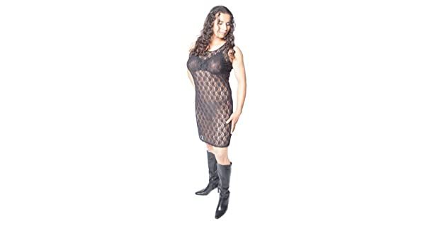 011c5a3696 Amazon.com: Crossdresser, Crossdressing Dress. Black Lace Tank Dress ...
