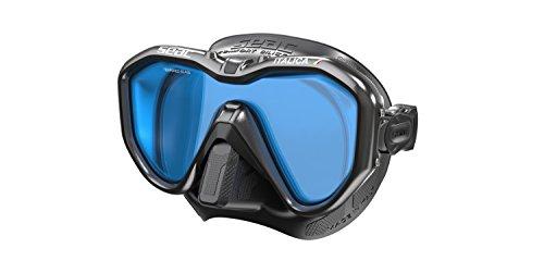 SEAC Italica Scuba Diving Snorkeling Mask, Mono Lens S/BL LS Black Metal, Black Metal