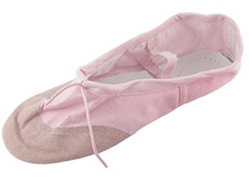 Uxcell Dames Dans Ballet Roze Crossover Canvas Elastische Band Platte Schoenen Maat 6 Roze