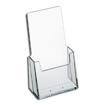 Source One Premium Counter Top TriFold 4-Inch Wide Acrylic Brochure Holder (10 Pack)