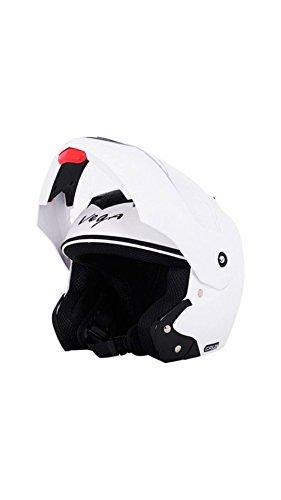 Vega Crux Full Face Motorbike Helmet, White,Medium Size  58 CM
