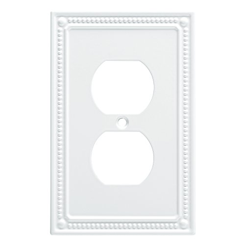 Franklin Brass W35059-PW-C Classic Beaded Single Duplex Wall Plate/Switch Plate/Cover, -