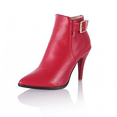 RTRY Zapatos De Mujer De Piel Sintética Pu Novedad Moda Otoño Invierno Confort Botas Botas Stiletto Talón Señaló Toe Botines/Botines Hebilla US6 / EU36 / UK4 / CN36