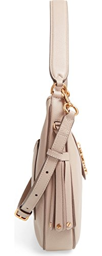 Taupe Leather Bag Hobo Interlock Marc Medium Jacobs Shoulder xHnwqPCf1
