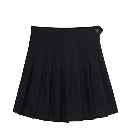 LINGS Women Girls Short High Waist Pleated Skater Tennis School Skirt