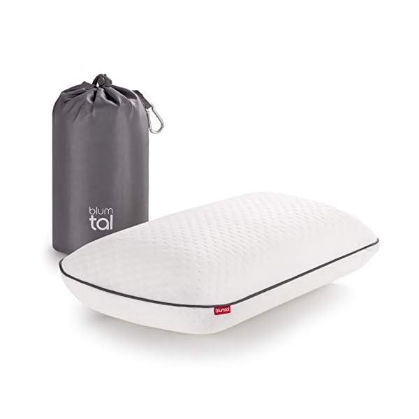31W6INgqMhL Blumtal Visco-Schaum Reisekissen Memory Foam - Reise Nackenkissen mit Tasche, komprimierbar, ideales Camping Kopfkissen…