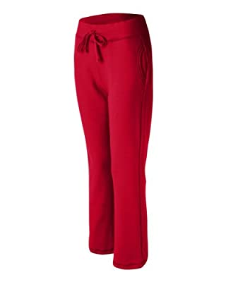 Ladies' Heavy Blend Yoga Style Sweatpants , Color: Red, Size: Medium