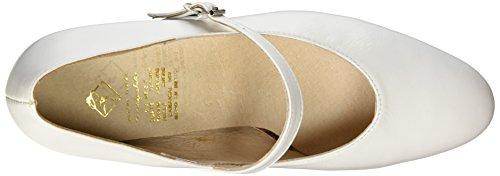 Flamenco Tacón Blanco Zapatos Mujer Color de T7 Blanco Miguelito dqBwxUId
