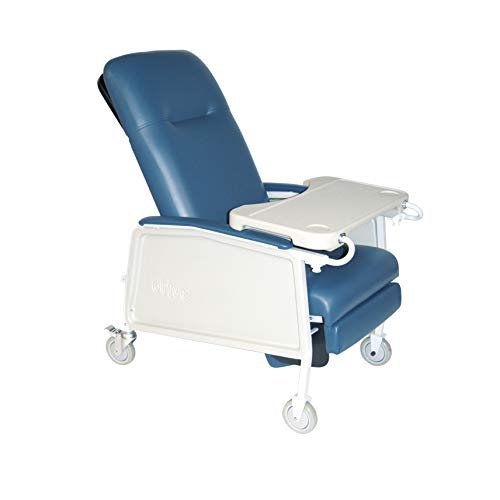Three Position Recliner - Drive DeVilbiss Healthcare D574-BR Three Position Recliner, Blue Ridge