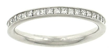 Channel Set Princess Cut Diamond Eternity Band .70cttw (Princess Band Eternity Set Diamond)