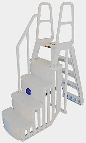 2 Sand Weights Main Access 200100T Above Ground Pool Ladder Steps w// Mat Pad