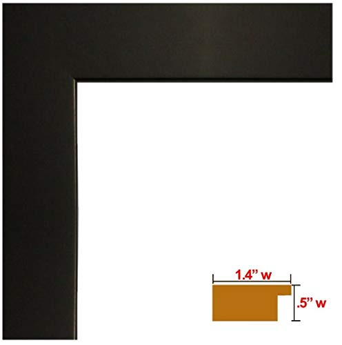 US Art 13x19 Black 1.25 Inch Wood Composite MDF Picture Poster Photo Frame - SINGLE