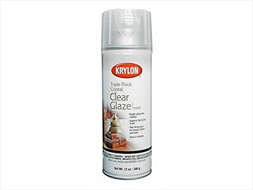 Diversified Brands Kry500 Krylon Triple Thick Glaze Artist Spray, 12 - Glaze Clear Crystal