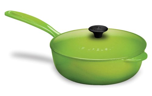 Le Creuset Enameled Cast-Iron 3-Quart Saucier Pan, Palm by Le Creuset
