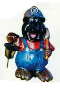 Topo Berg trabajador con farol vergrößert 50cm para exterior de polirresina