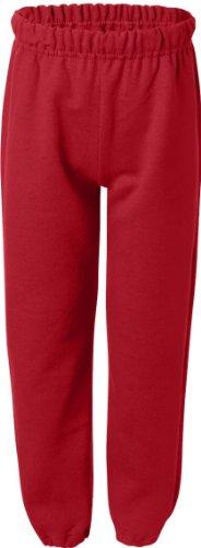 Gildan Heavyweight Blend Youth Sweatpants. 18200B - Large - Red