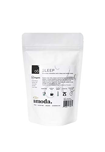 SLEEP TEA by Amoda - SLEEP AID - SLEEP - ORGANIC TEA - A delicious keep calm sleepytime tea - Valerian, Chamomile, Passionflower, Lemon balm, Lavender, Calm, Bedtime tea, Nighttime tea, Calming 2.6oz