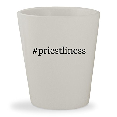 #priestliness - White Hashtag Ceramic 1.5oz Shot Glass