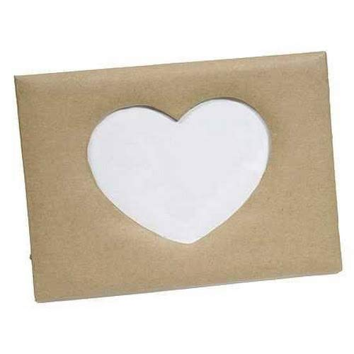 Factory Direct Craft Paper Mache Heart Photo Frame | 2 Pieces