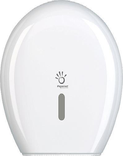 Papernet 406717 HYTECH Plastic Dispenser, Mini Jumbo Toilet Tissue, White Sofidel S.p.A.