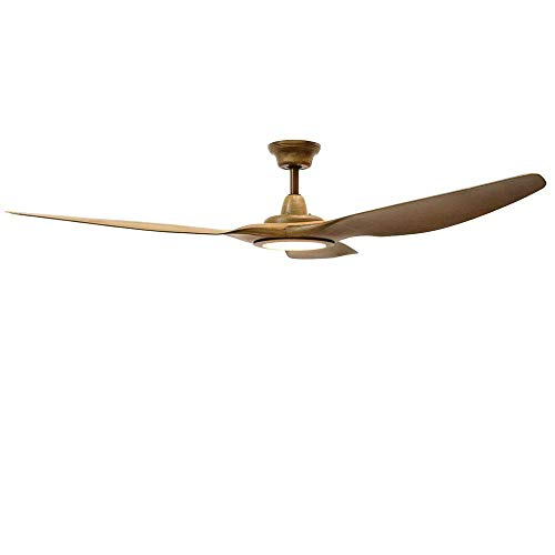 Holder Blade Ceiling Fan (TiptonLight 62 inch Ceiling Fan with Remote Control with 3 Wooden Blades Led Remote Control Ceiling Fan Living Room Fan Chandelier Ceiling Fan Light)