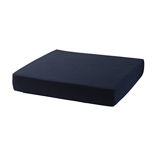 Wheelchair Pad (Duro-Med Wheelchair Cushion, Wheelchair Seat Cushion With Cover, Adds Support and Comfort, Reduces Pressure on Back, Navy Blue, 3 x 16 x 18 Inches)