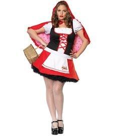 Lil Miss Red Costume - Plus Size 1X/2X - Dress Size 16-20 (Little Miss Riding Hood)
