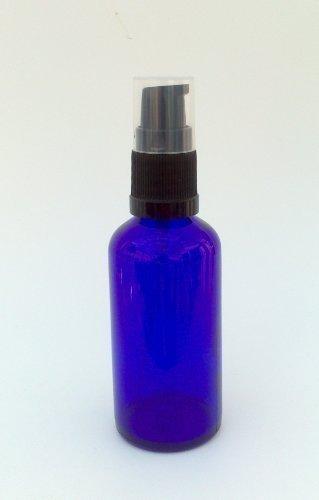 Vidrio azul Botella 50ml con Negro Tratamiento Loción Rociador Calidad óptima Azul Botella De Vidrio Vacía