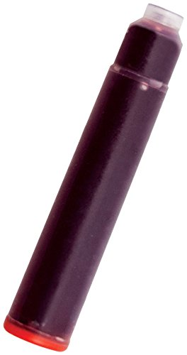 Monteverde Internatinal Size Cartridge to Fit Fountain Pens, Red, 6 per Pack (G302RD)