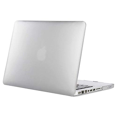 MOSISO Plastic Hard Shell Case Cover Only Compatible Old MacBook Pro 13 Inch (A1278 CD-ROM), Release Early 2012/2011/2010/2009/2008, Silver