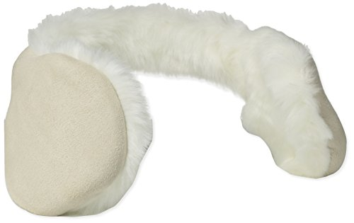 180s Women's Winterlude Faux Suede and Fur Behind The Head Ear Warmers, Oatmeal One Size