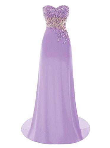 Formelle Kleider Ball Beaded Lavender Fanciest Lang Damen 2016 Kleider Abendkleider White 4WfqC